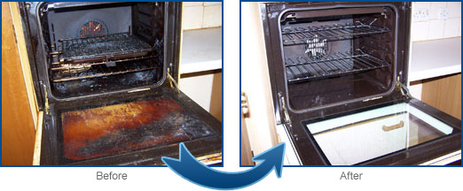 Oven cleaning oven sprite domestic oven cleaning specialists for south east essex - Clean burnt grease oven pots pans ...